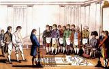 Initierea unei ucenic francmason in jurul anului 1800.